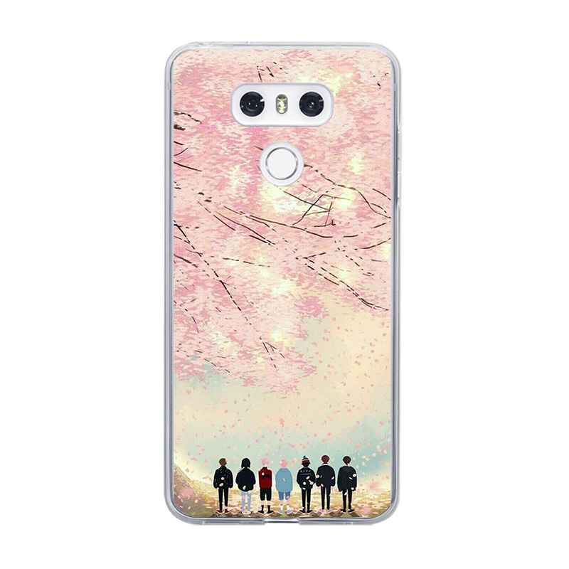 ciciber For LG G7 G6 G5 G4 V40 V35 V30 V20 THINQ Soft TPU Phone BTS Korea Boys Cases For LG K8 K10 K4 2017 2018 K9 K11 Plus Capa