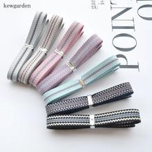 Kewgarden 9mm 0.9cm Stripe Satin Ribbons DIY Bowknot Accessories Riband Handmade Tape Ribbon 20m/lot