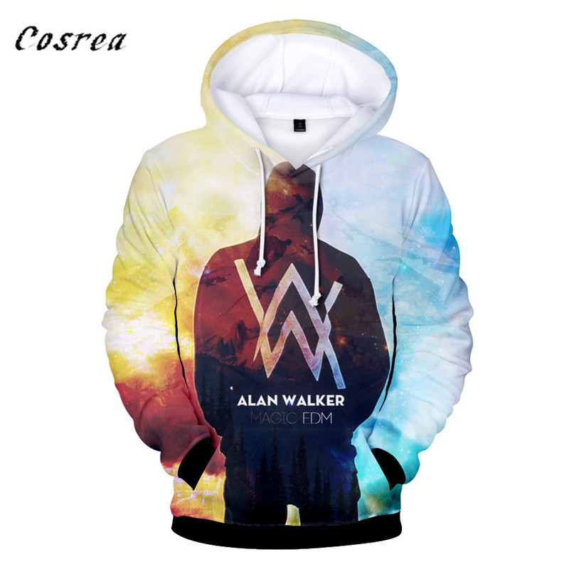 Music DJ Hot Fashion Alan Olav Walker 3D Hoodies Men/women High Quality Harajuku 3D Print Alan Walker Men's Hoodies Clothes