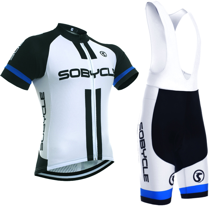 2018 white sobycle Cycling team jersey bike shorts set Quick Dry Ropa Ciclismo MTB bicycle clothing Mens summer cycling wear cheji team mens bike clothing set ropa ciclismo mtb bike bicycle cycling long sleeve jersey
