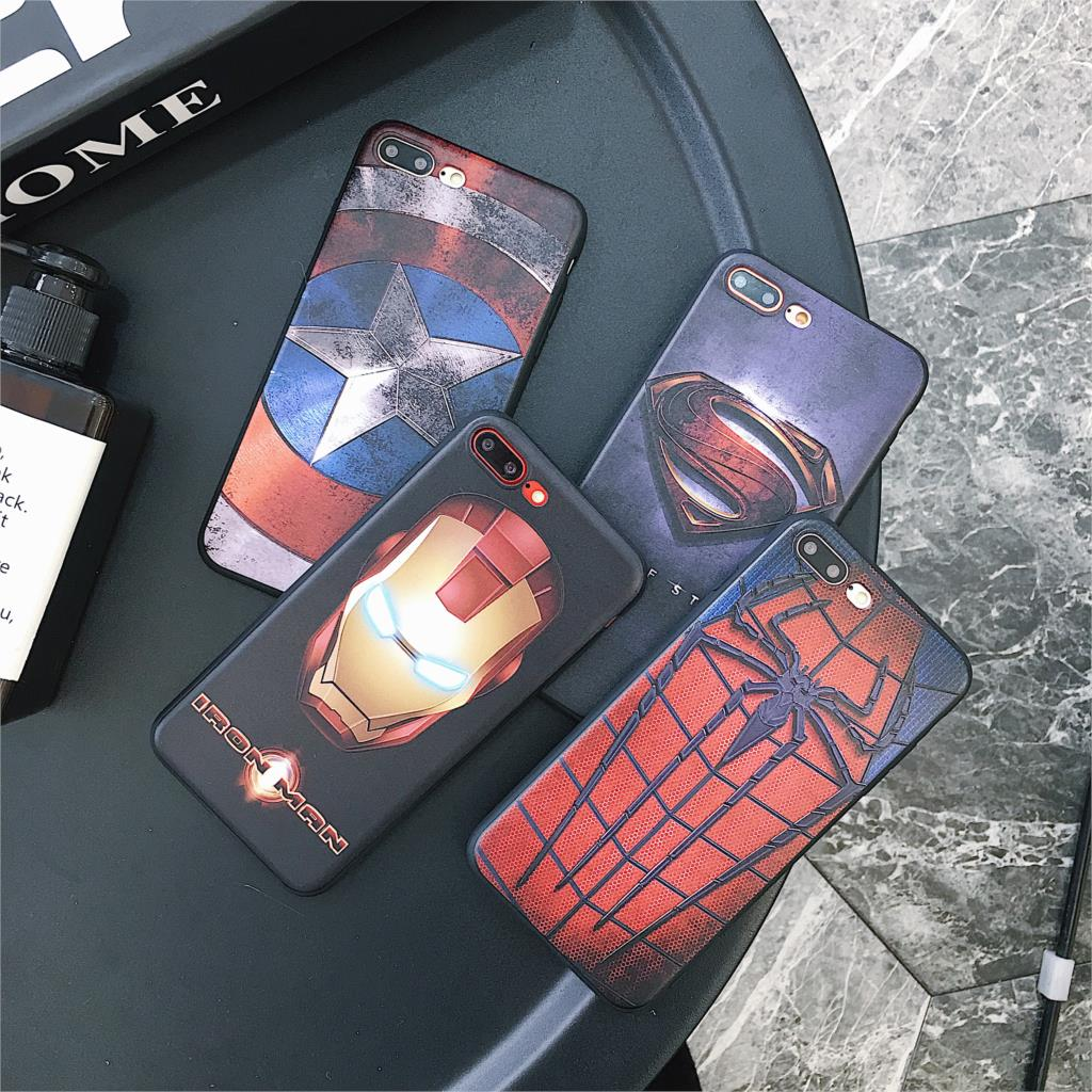 3d Relief Phone Case For Iphone 6 6s 7 8 Plus X Cover Cool Marvel Original Superhero Soft Meizu M3s 5 Inch 1 Pcs 5s Se 6plus 7plus 8plus