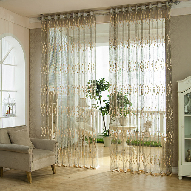 NAPEARL New Breathable Decorative Tulle Curtain Screens Bedroom Balcony  Sheer Panel Window Living Room