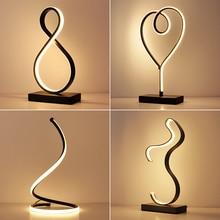 Современный светодиодный настольный светильник для чтения в спальню, Настольный светильник, прикроватная лампа для исследования, защита глаз, вилка стандарта США/ЕС