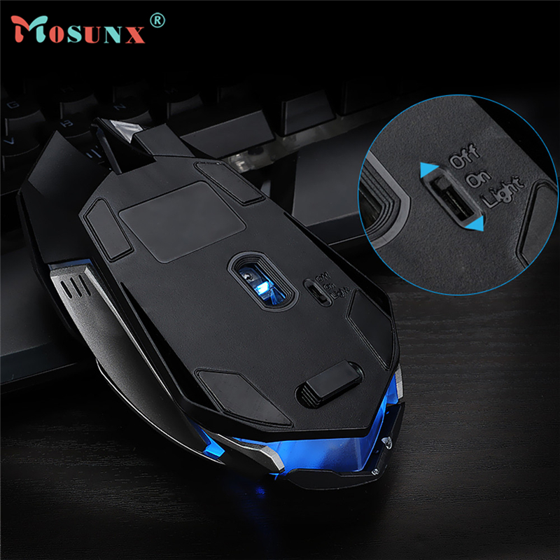 Wired USB Optical LED Light Gaming Mouse Top Quality 4000DPI 6 Butttons Ergonomic Metal Pro Mice For Laptop PC Rato 17July21