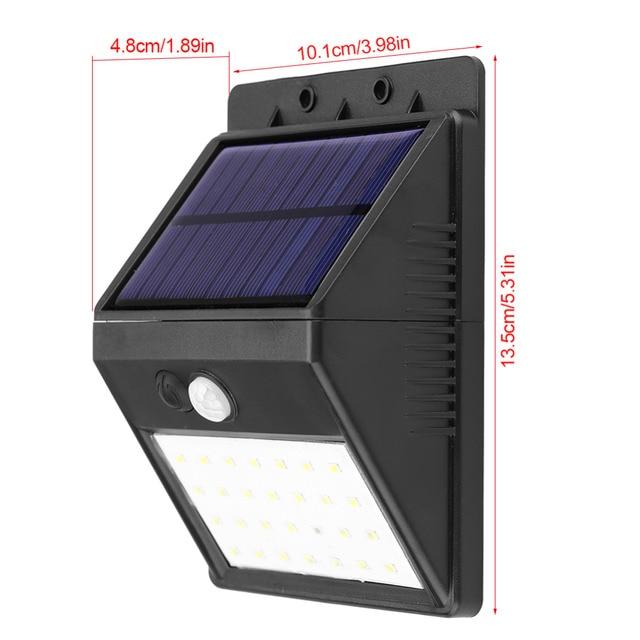 Detachable Solar 28 LED 3 Modes Motion Sensor Security Wall Light Garden Outdoor Lamp 3