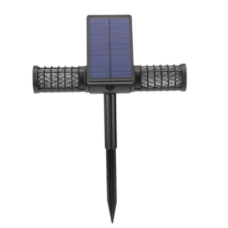 Movido A Energia Solar Do Assassino Do Mosquito ambientalmente UV LEVOU Noite Ao Ar Livre Lâmpada de Jardim Insetos Pragas Bug Zapper Do Assassino Do Mosquito Da Lâmpada