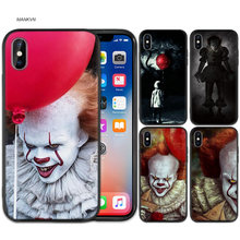 Case Cover for iPhone XS Max X XR 6 6s 7 8 Plus 5 SE 5S Scrub Silicone Phone Cases Soft Stephen King's It King s(China)