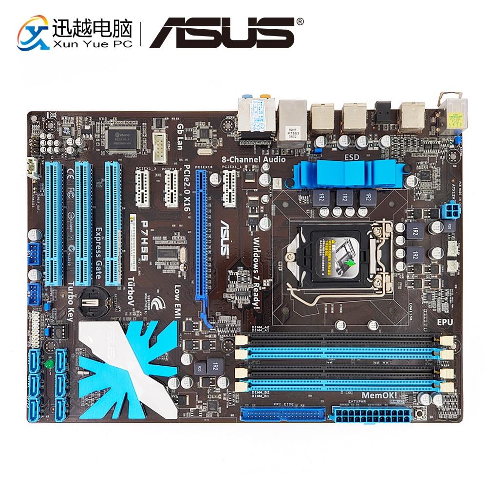 Asus P7H55 Desktop Motherboard H55 Socket LGA 1156 i3 i5 i7 E3 DDR3 16G SATA2 USB2.0 ATX