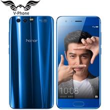 Ursprünglicher Huawei Honor 9 4G LTE Handy 5,15 zoll Kirin 960 Octa-core 4 GB RAM 64 GB ROM 1920*1080 Dual Rückfahrkamera NFC telefon