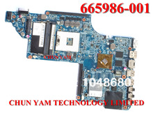 Wholesale laptop motherboard 665986-001 for HP Pavilion dv7 dv7-6000 Notebook PC system board 100% Tested 60Days Warranty