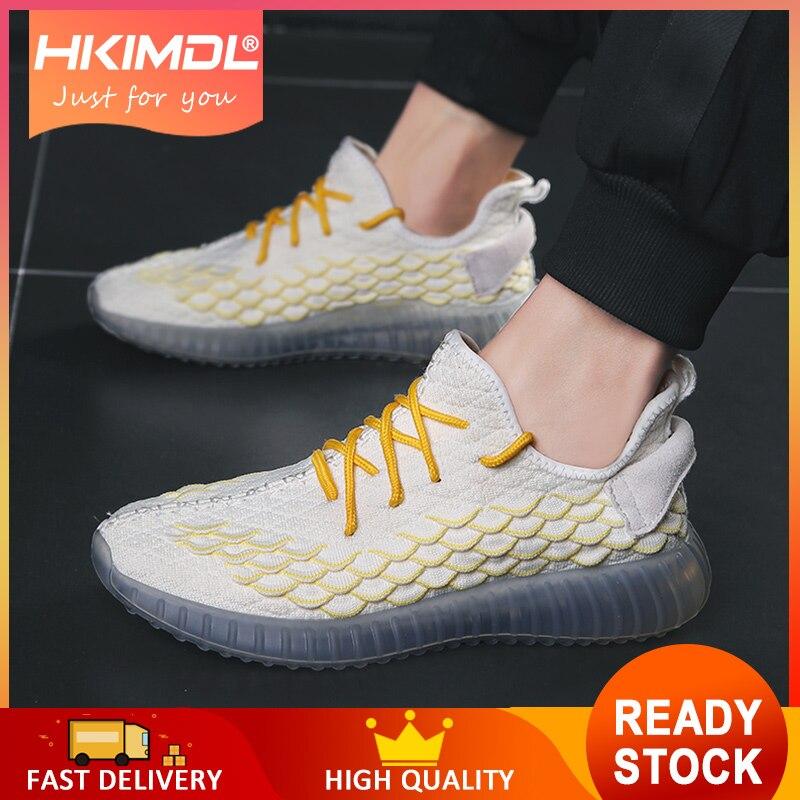 HKIMDL NOUVEAU Hommes Baskets D'été décontracté Résistant Chaussures Homme Jeunesse Noir Jaune Orange Maille à lacets Respirant Chaussures