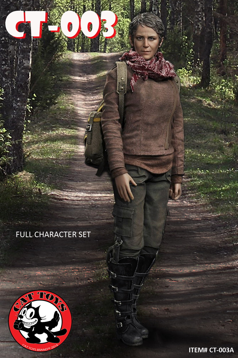 1/6th scale female figure doll The Walking Dead Carol Peletier 12 Action figure doll Collectible model plastic toy No BOX short row knits