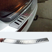 2009 2016 Stoßstange hinten Protector Stamm Tür Sill Trim Spiegel Oberfläche Edelstahl Chrom Auto Styling Für Audi Q5 zubehör