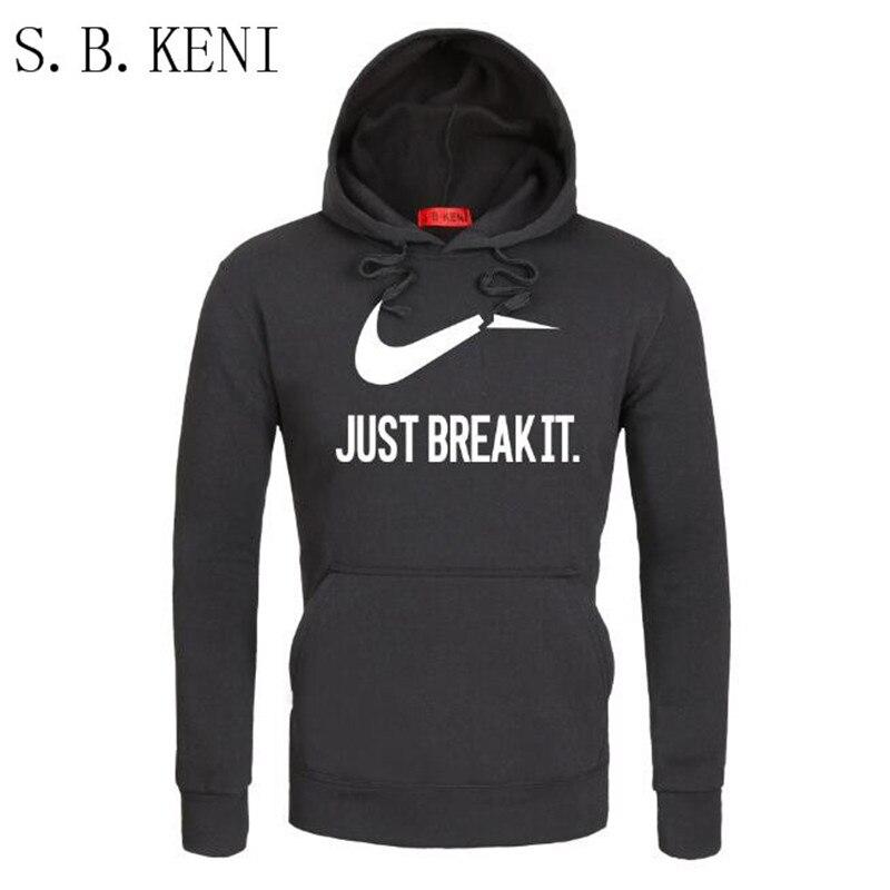 Бренд толстовка Для мужчин просто break it Толстовки кофты Для мужчин хип-хоп модная флисовая высокого качества пуловер Спортивная Костюмы ...