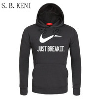Brand Sweatshirt Men S JUST BREAK IT Hoodies Sweatshirts Men Hip Hop Fashion Fleece High Quality