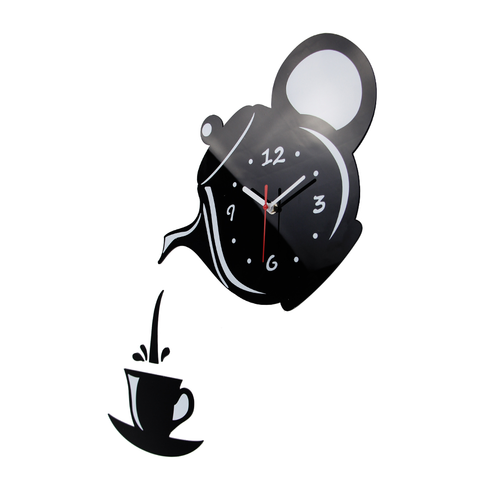 Kitchen Wall Decoration Coffee Cup Clock