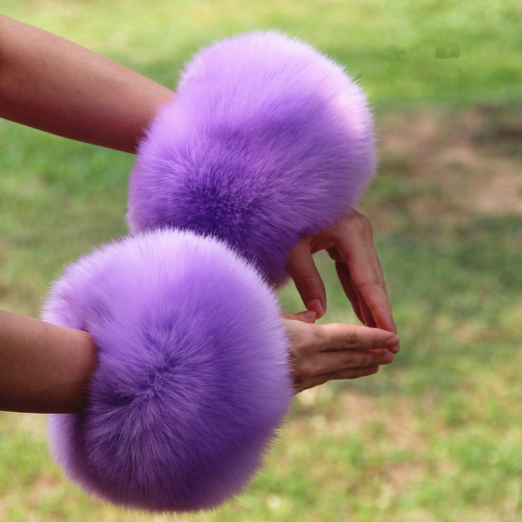 Apparel Accessories Industrious 2pcs A Lot Big Sleeve Decor Fur Rings Hand Fur Decoration Cute Faux Fox Fur Warm Oversleeves Fur Arm Cuffs Decor Multi Colors 100% High Quality Materials