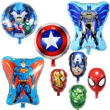 14 estilo Super Herói Avengers Spiderman Batman Balões Balão de alumínio Fontes Do Partido de Aniversário Das Crianças Brinquedos Do Bebê Superman Decorn