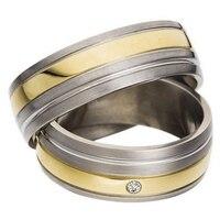 Хирургической нержавеющей стали обручальные кольца пара для влюбленных обувь для мужчин и женщин