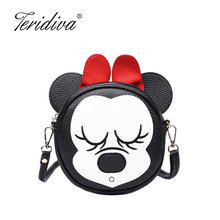 Teridiva Brand Women Messenger Bags Ladies Bow Shoulder Bag Women Leather Patchwork Handbags Mini Small Crossbody Bags for Girl