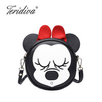 Teridiva Brand Women Messenger Bags Ladies Bow Shoulder Bag Women Leather Patchwork Handbags Mini Small Crossbody