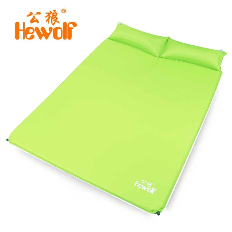 ФОТО Hewolf high quality double person moistureproof comfortable camping outdoor mat with pillows