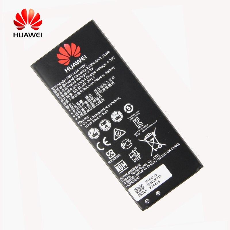 Original Huawei HB4342A1RBC batería del teléfono del Li-ion para Huawei y5II Y5 II 2 Ascend 5 + Y6 honor 4A SCL-TL00 honor 5A LYO-L21