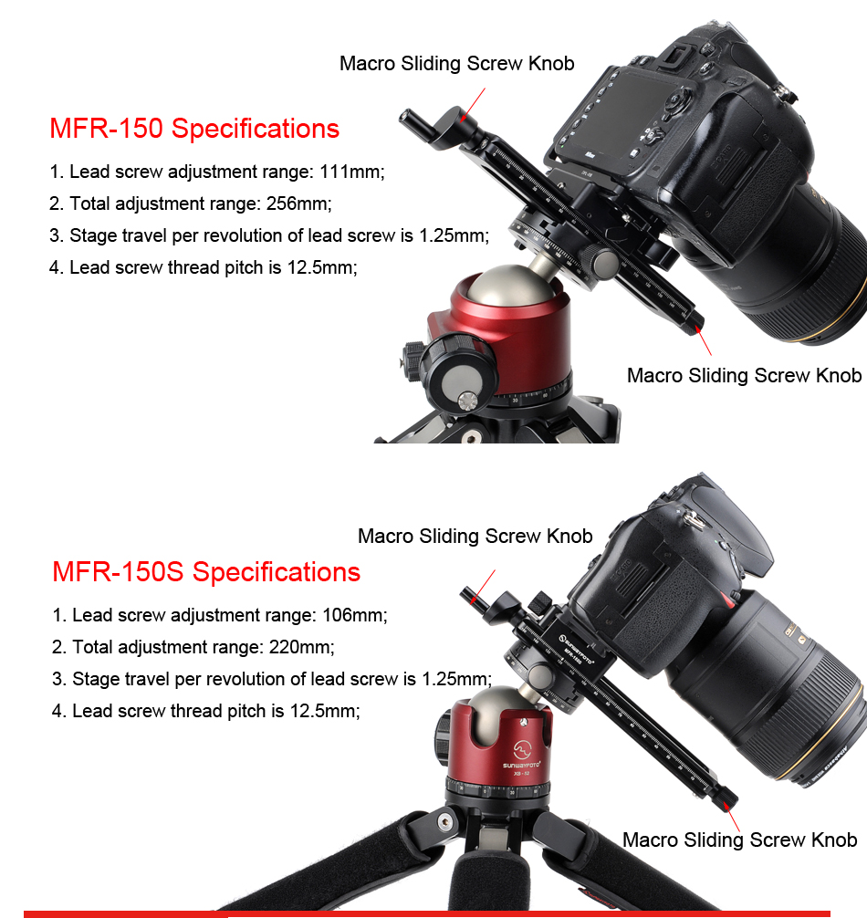 Detail Feedback Questions about SUNWAYFOTO MFR 150s Camera