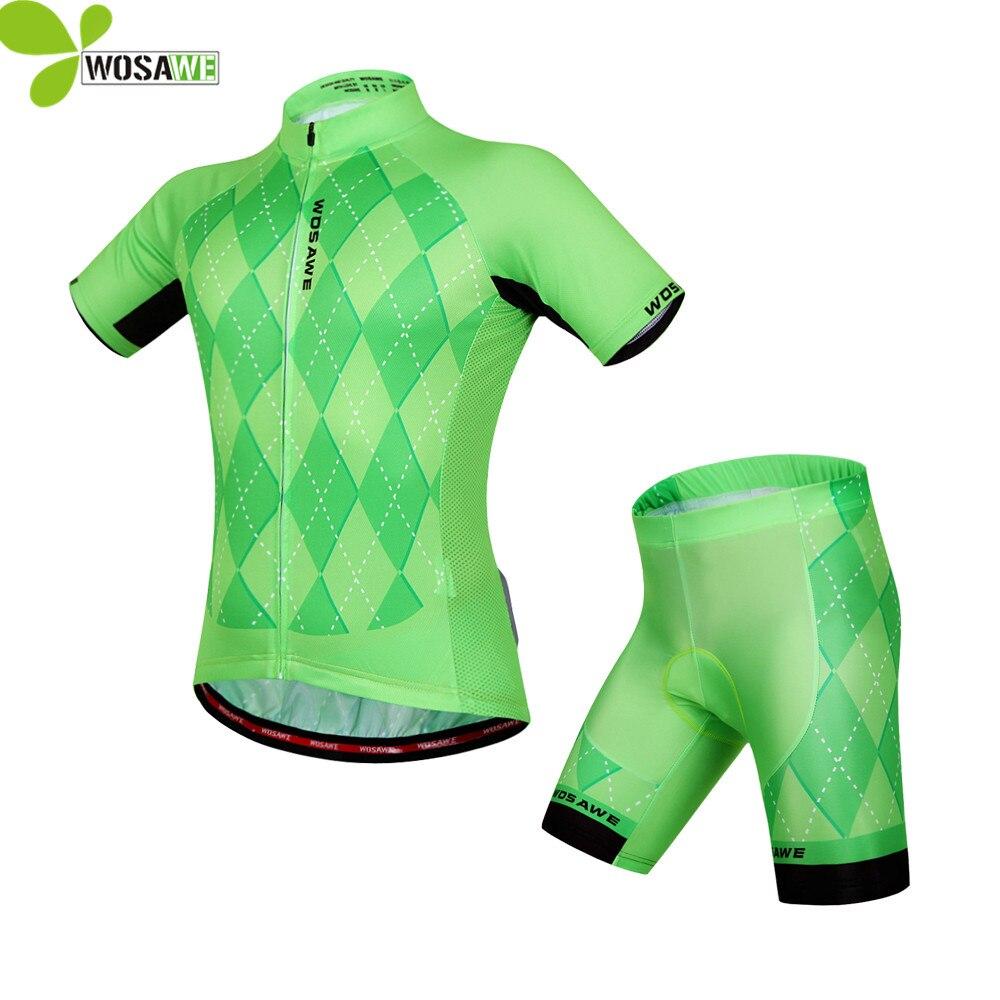 WOSAWE VTT Vélo Maillots Costumes 4D Gel Pad shorts À Séchage Rapide  Maillot Ciclismo route vtt vêtements Vélo Vêtements 6e058875f32