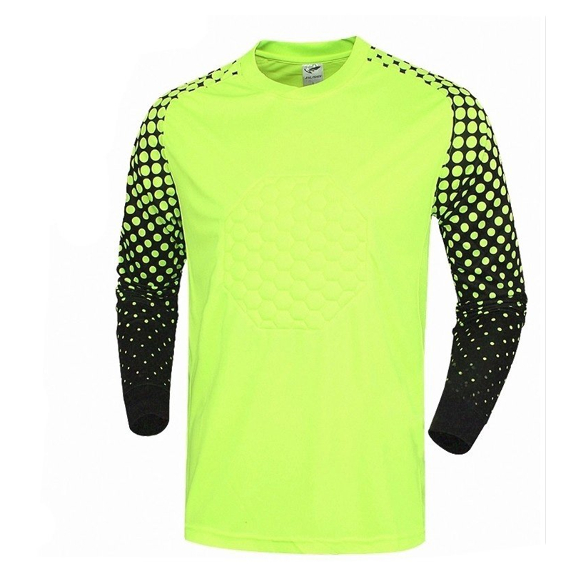 804ccb498 2017 football goalkeeper jerseys long sleeve soccer shirts goalkeeper  jerseys sponge blank soccer jerseys goalie training