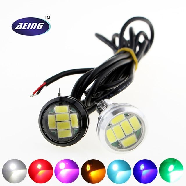 Car LED Lights 12V 23MM 6SMD LED Multicolor Eagle Eyes Lights Aluminum  Reverse Parking Fog Lamp Amazing Pictures
