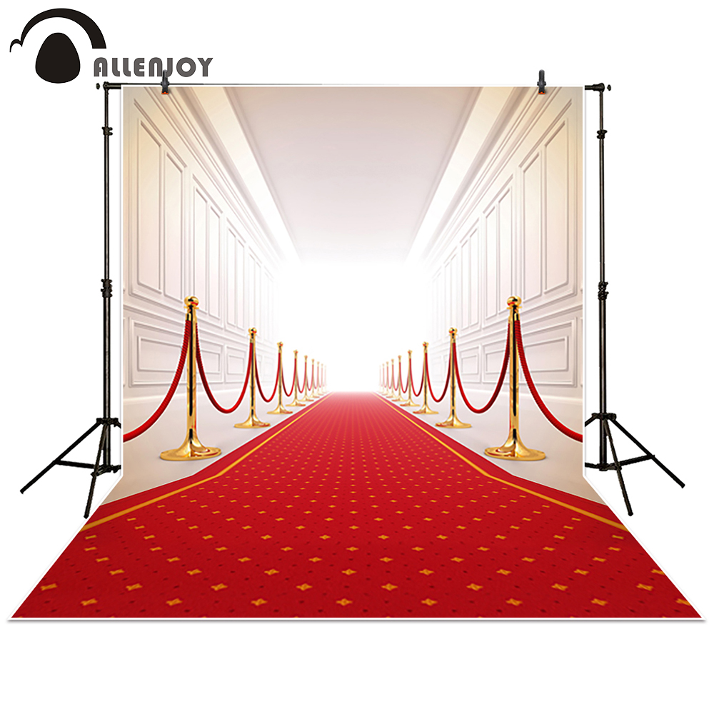 Allenjoy photography backdrops Wedding background red carpet gallery palace photo studio props photobooth photocall 200 300cm wedding background photography custom vinyl backdrops for studio digital printed wedding photo props