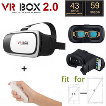 2016 New Google Cardboard 3D VR BOX II 2.0 VR 3D Glasses Virtual Reality For 3.5 – 6.0 inch Smartphone+Bluetooth Remote Gamepad