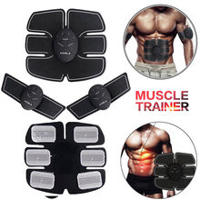 Factory price 6 PACK EMS Smart Muscle Stimulator Abdominal Trainer Pad Hip Slimming Massager Unisex Body