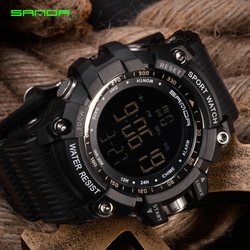 Losida Men Climbing Sports Digital Wristwatches Big Dial Military Watches Alarm G Style Shock Resistant Waterproof Watch LED