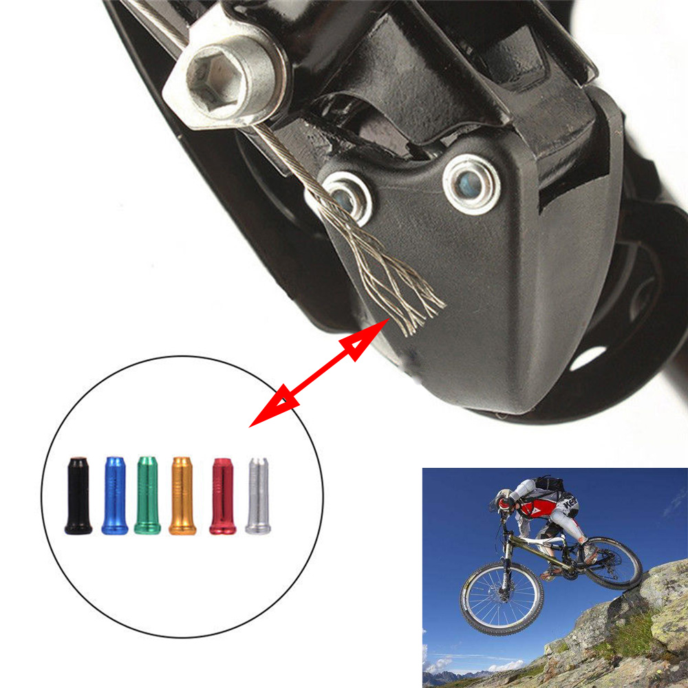 50pcs Aluminum Cycle Bicycle Brake Shifter Inner Cable Tips Wire End Cap Crimps