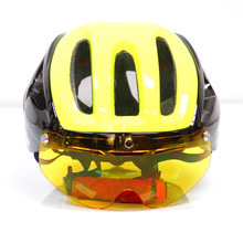 Ultralight Mtb Mountain Road Bike Cycling Helmet Glasses PC+EPS one molding Mtb Mountain Road Bike with 3 Lens Bicycle Helmet