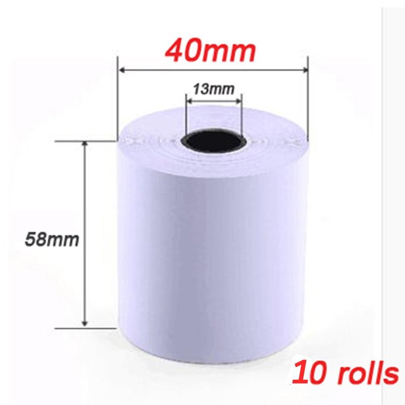 58mm Thermal Printer paper Receipt printer paper cash register paper 58*40mm for Mobile POS mobile printer paper