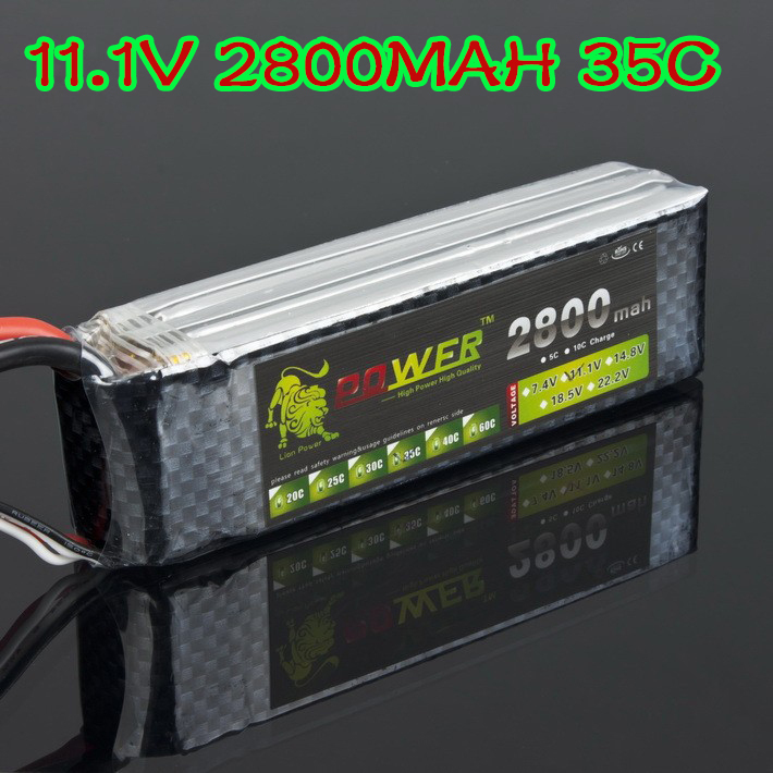 RC Quadcopter 3S Lipo battery 11.1V 2800MAH 35C with T / XT60 Plug For RC Car Helicopter 6 Channel Align Trex Akku T Deans Plug