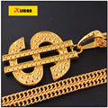 Wholesale Men Hip Hop Gold Plated US Dollar Pendant Necklace Chain $ Necklaces Pendants for Women Men Jewelry