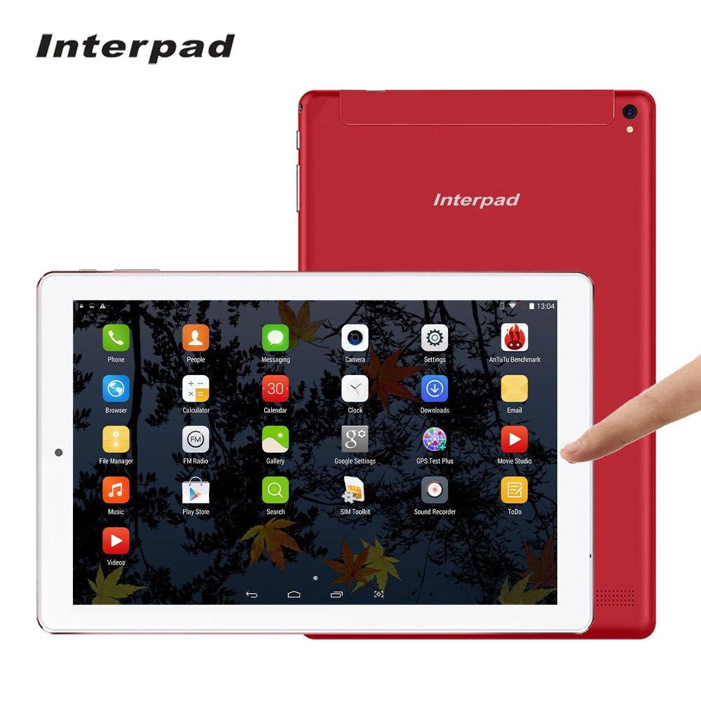 Interpad D'origine Haut de gamme comprimés 10.1 pouce MTK6582 Quad core 3G appel Android tablet Téléphone IPS 1920*1200 wifi GPS BT4.0 16G ROM