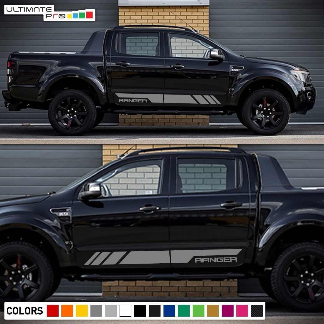 For 1set2pcs Decal Sticker Graphic Side Stripe Kit For Ford