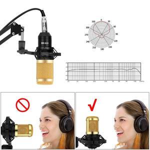 Image 2 - BM 800 Studio Microphone Condenser Microphone Vocal Record KTV Karaoke BM800 microfono For Radio Braodcasting Singing Mic Holder