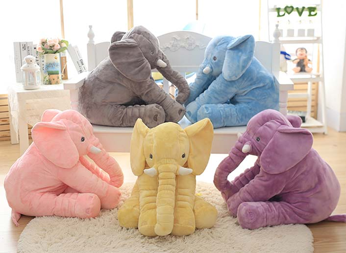 60cm Baby Animal Elephant Style Doll Stuffed Elephant Plush Pillow Kids Toy Children Room Bed Decoration Toys INS 65cm plush giraffe toy stuffed animal toys doll cushion pillow kids baby friend birthday gift present home deco triver