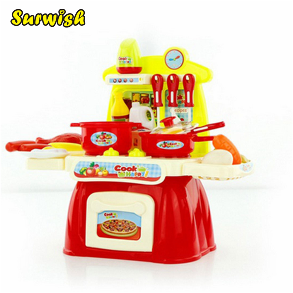 Mini Kitchen Toy: Surwish Children Cooking Play Mini Kitchen Table Toys Set