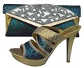 Elegant High Heels Sandals Party Pumps Shoes African Wedding Shoes And Bag Sets Italian Matching Shoe And Bag Set 1308-39