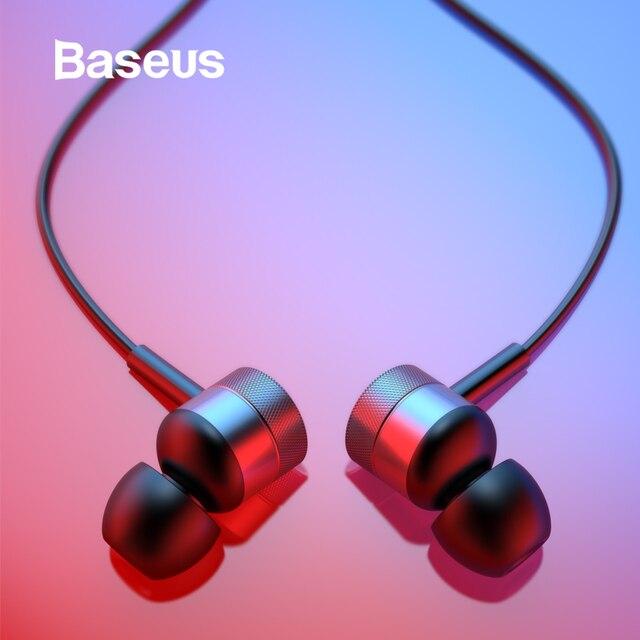 Baseus H04 auriculares estéreo auriculares en la oreja auriculares de cable Jack de 3,5mm con micrófono para iPhone 6 s Xiaomi Samsung fone de ouvido