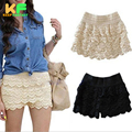 2016 Fashion New Women's Shorts Solid Mid Wait Lace Short Women Casual Shorts  CJZDK0005