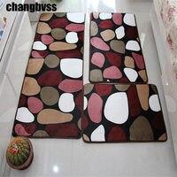 3 Pcs Set Large Size Coral Fleece Tapete Anti Slip Bathroom Kitchen Carpet Doormat Soft Floor