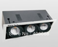 Free Shipping Ip20 3*20w Cut Out 480*165mm 45degree Citizen Cob Led Grille Down Light